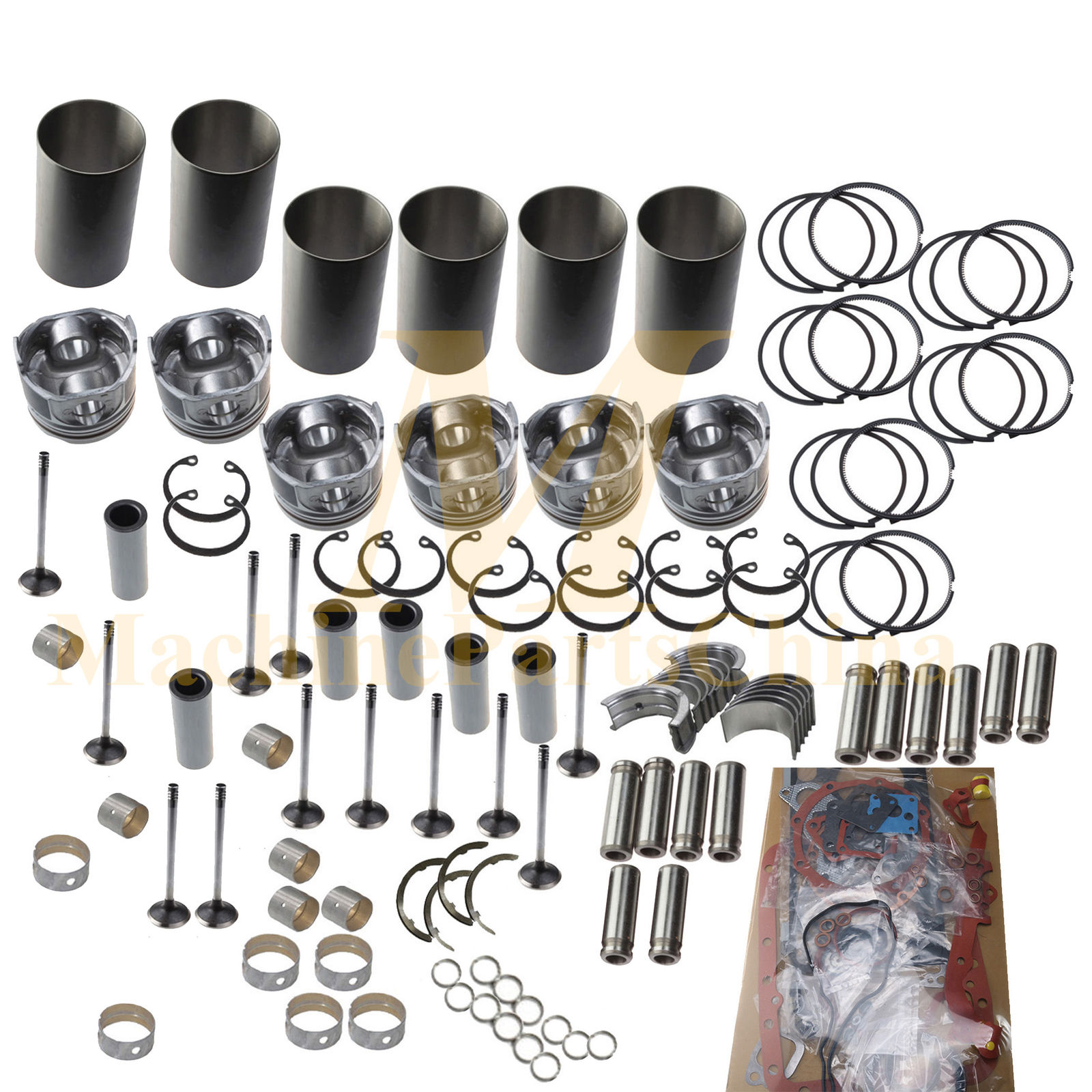 DB58T DB58TIS Overhaul Rebuild Kit For Doosan Daewoo Engine