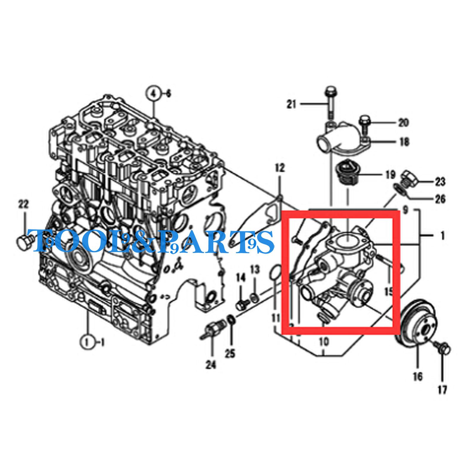 f041ab5383a86347 water pump for yanmar 3tnv 70 kbr 3tnv70 kbr engine blackrock apu