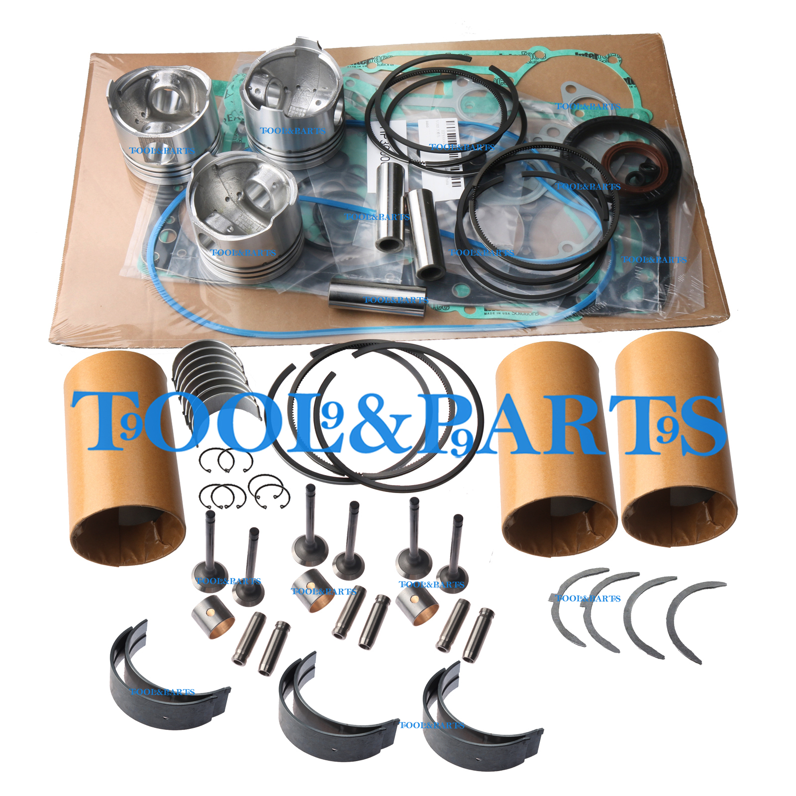 3TNA72 3TNA72L Overhaul Rebuild Kit for Yanmar Engine Kobelco SK15SR Excavator