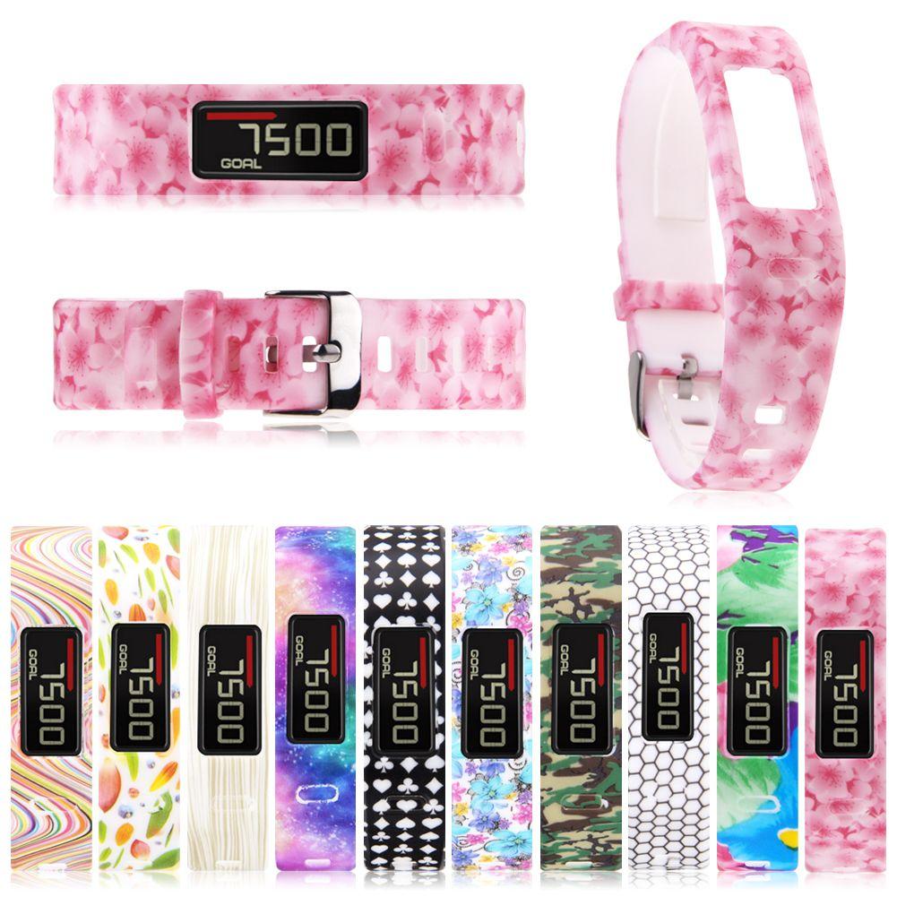 Replacement Silicone Wrist Band Patterns Bracelet Strap For Garmin Vivofit 1