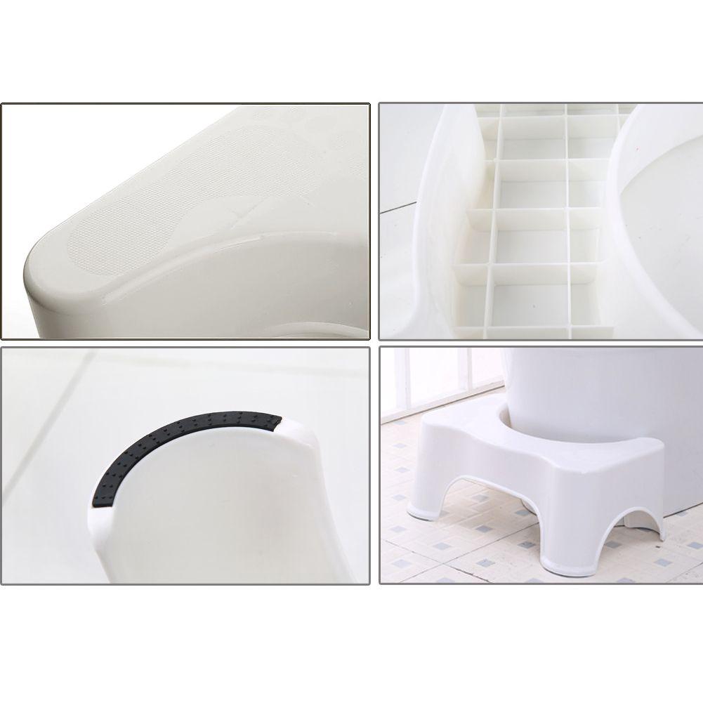 "7"" Toilet Squat Stool Poop Hemorrhoids Bathroom Relief"