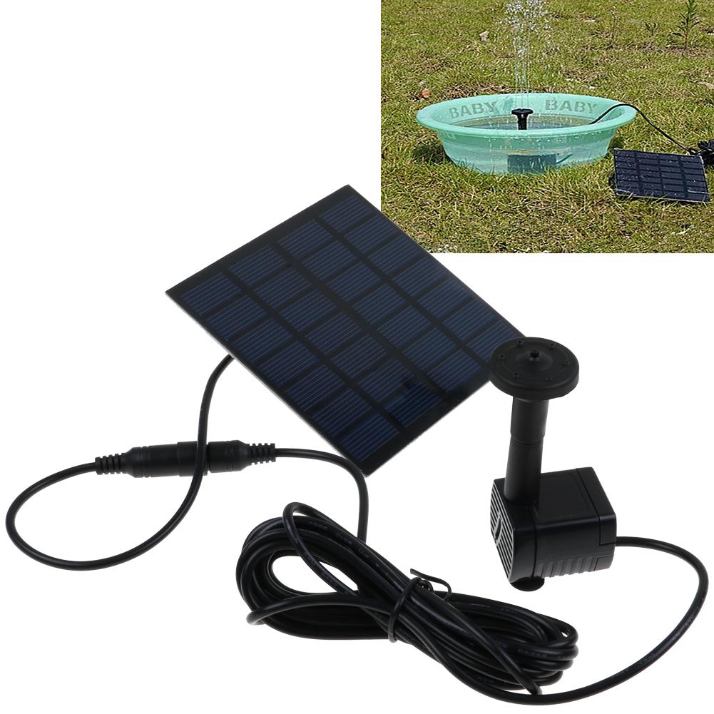 Solar panel powered water feature pump garden pool pond for Gartenpool pumpe