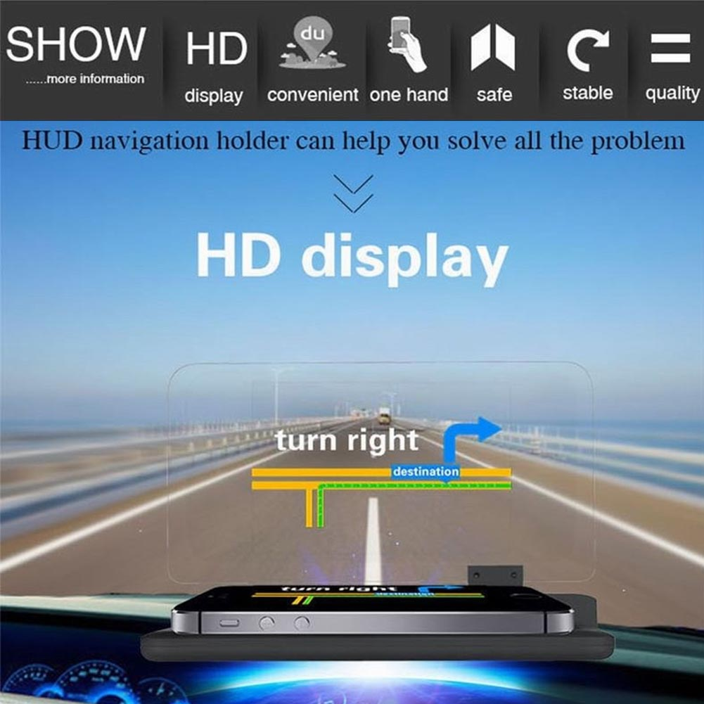 6 handy auto gps hud head up display projektion. Black Bedroom Furniture Sets. Home Design Ideas
