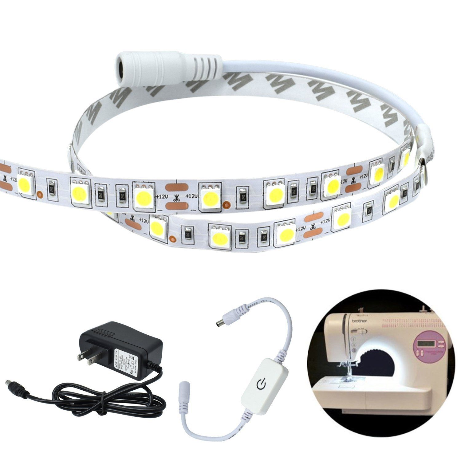 Universal Safe Sewing Machine Led Lighting Strip Kit 50cm