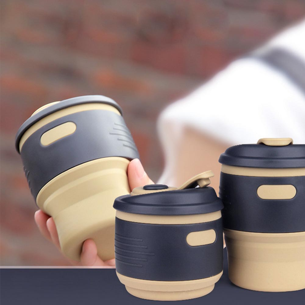 350ml portable collapsible hot cold coffee tea cup folding. Black Bedroom Furniture Sets. Home Design Ideas