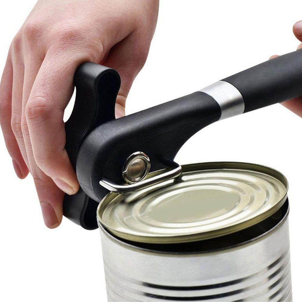 stainless steel smooth edge safety side cut manual can tin jar bottle opener ebay. Black Bedroom Furniture Sets. Home Design Ideas