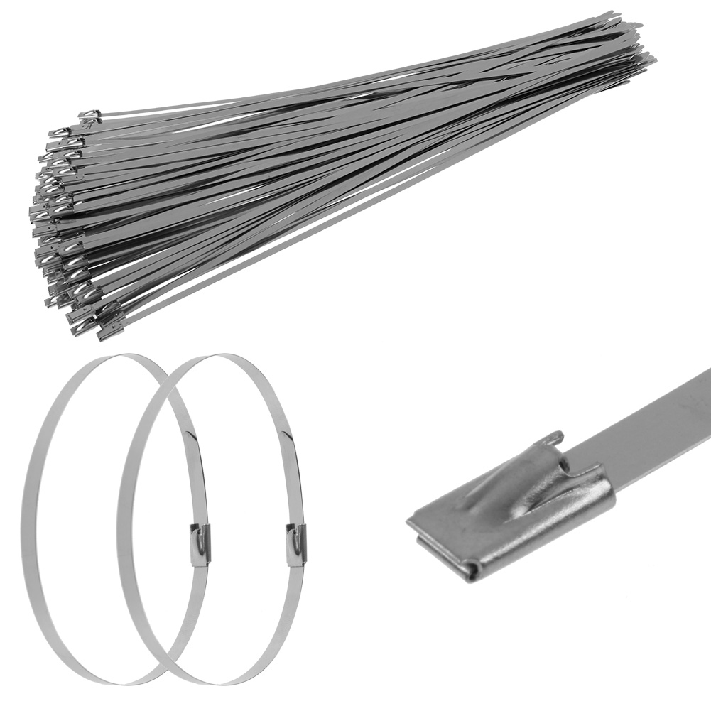 100Pcs Edelstahl-Reißverschluss-Umschlag Auspuff Stahl Metall ...
