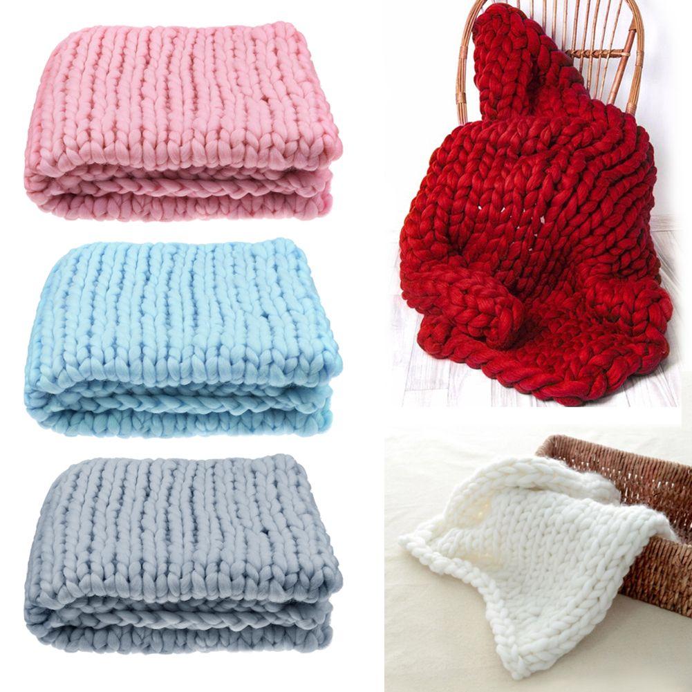 weiche warme hand chunky knit decke dickes garn wolle sperrige bed spread webart ebay. Black Bedroom Furniture Sets. Home Design Ideas