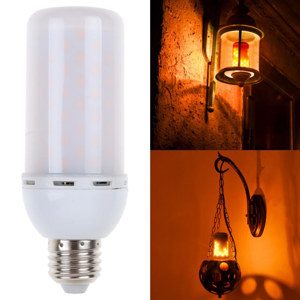 E27 LED Flicker Flame Fire Effect Light Bulb Warm White