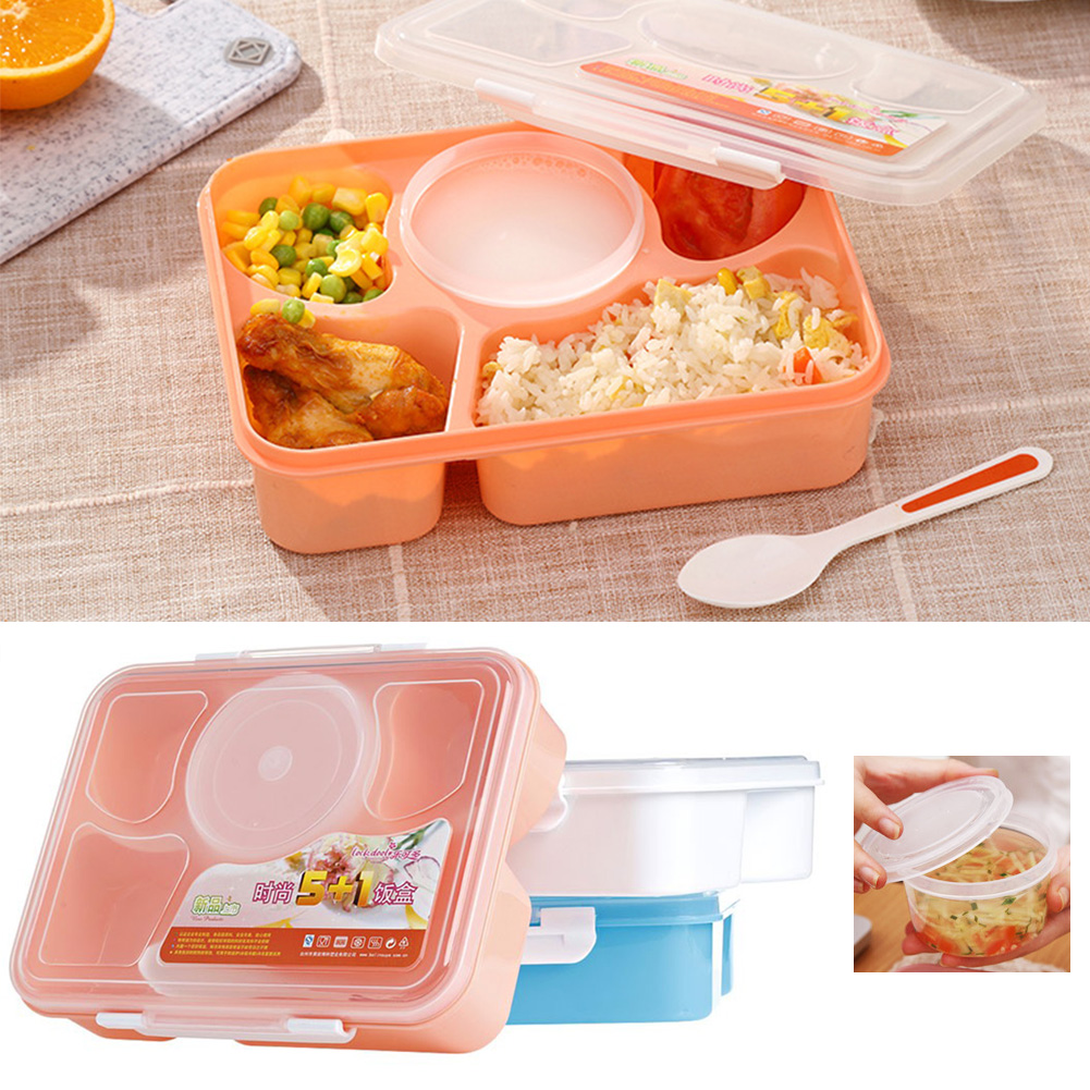1ecabdf8d655 Details about Microwave Bento Lunch Box + Spoon Utensils Picnic Food  Container Storage Box AU