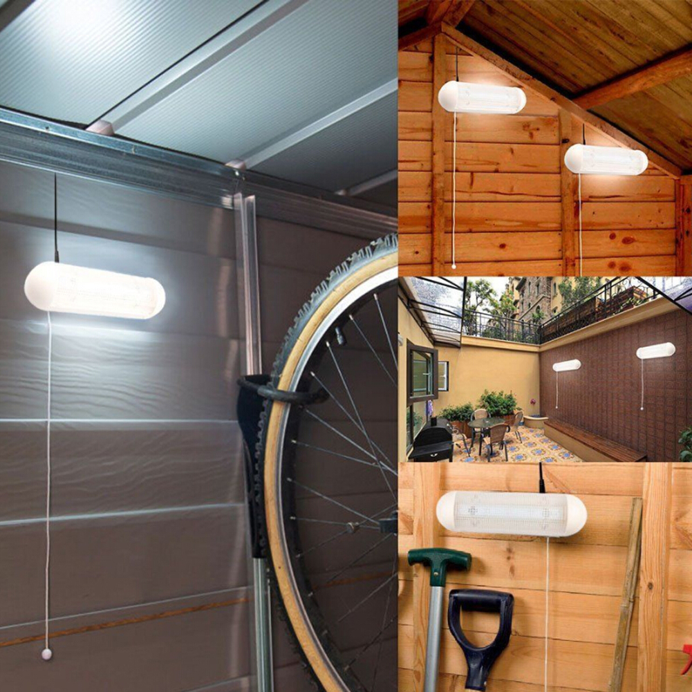 10 LED Garage Shed Light Solar Powered Rechargeable