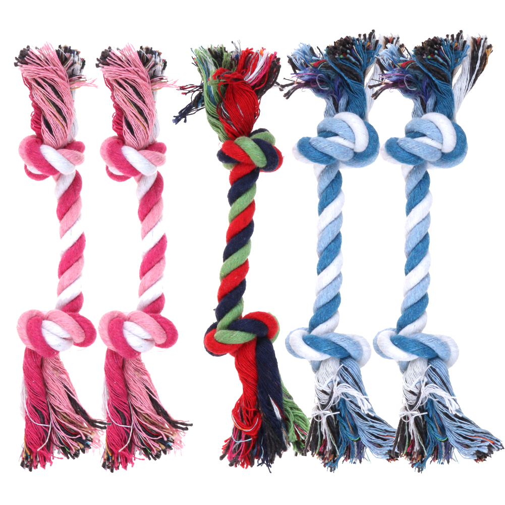 5pcs Chew Toys With Knot Fun Tough Strong Puppy Dog Pet