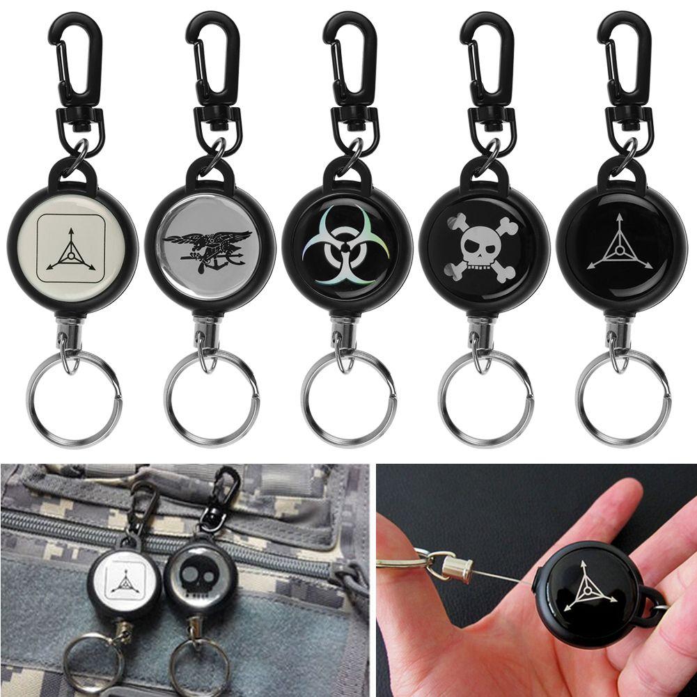New Heavy Duty Retractable Pull Reel Badge Key Chain Belt Clip ID ...