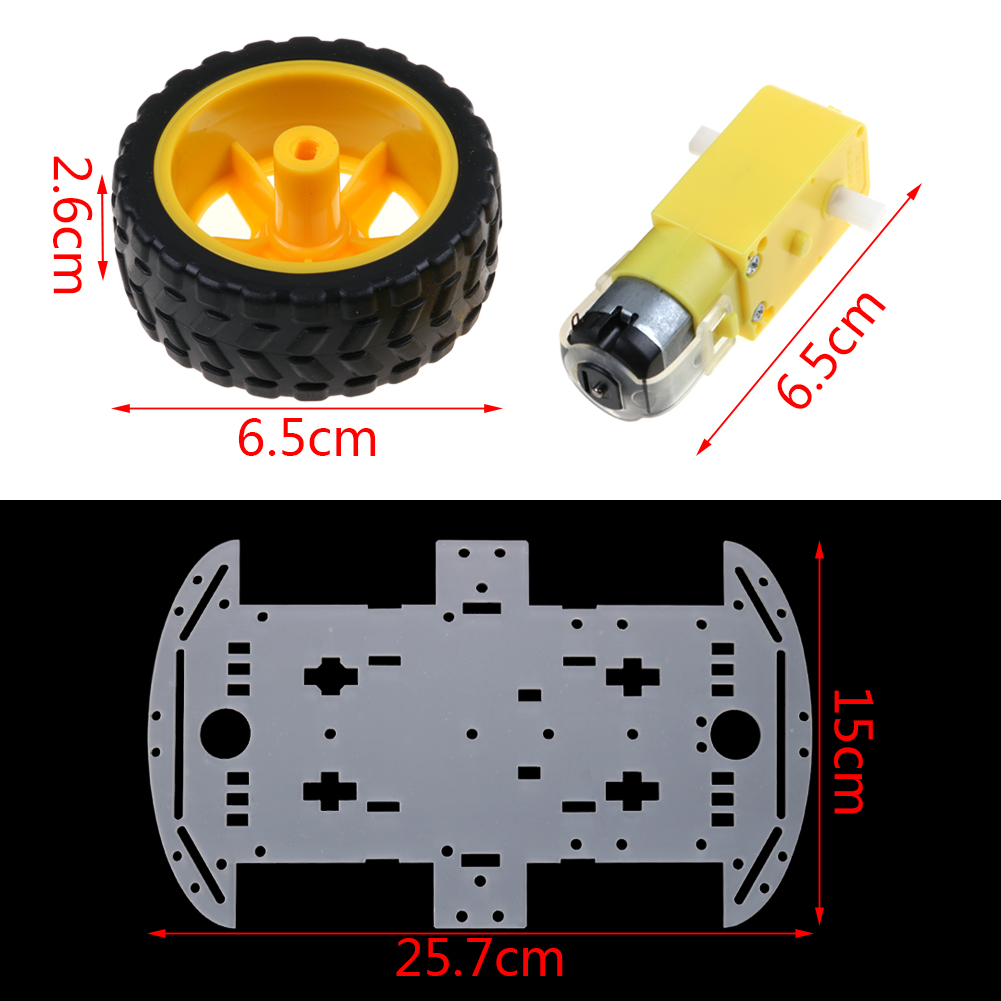 Wheel robot smart cars chassis kits car with speed