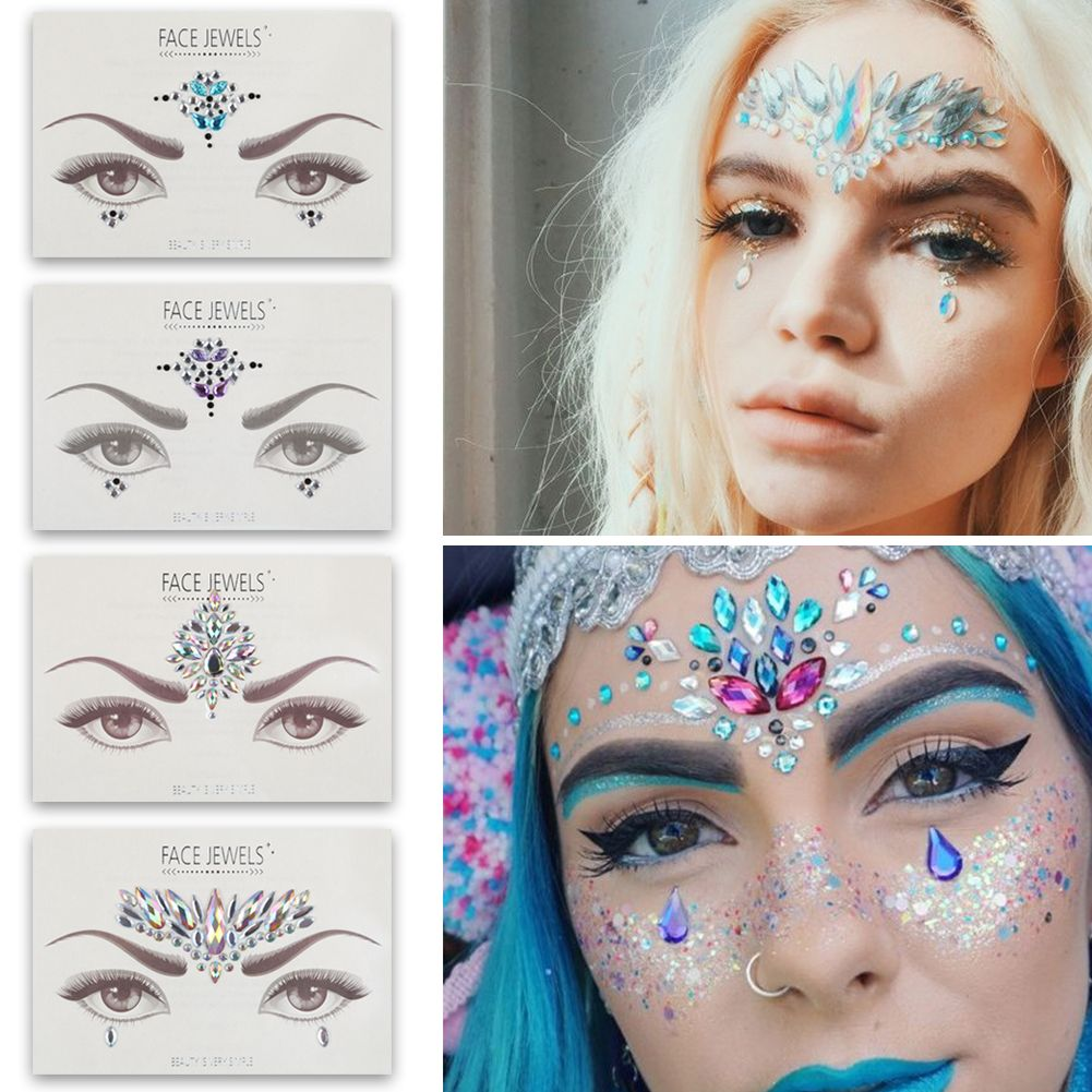 Details about Festival Face Eye Body Art Jewel Peel and Stick on Piece Gem  Diamond Crystal Hot 7a35341a6aa0