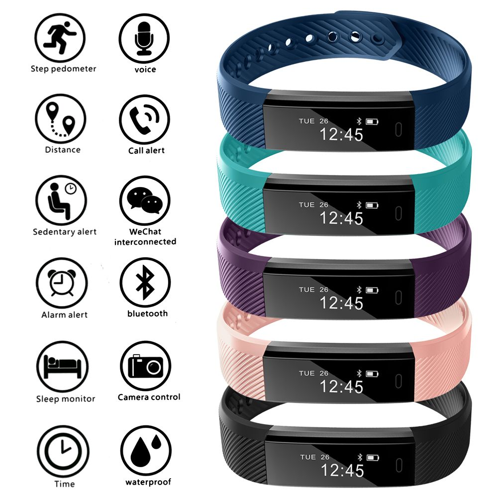 Fitness Bands Compatible With Iphone: For ID115 Bluetooth Smart Bracelet Watch Fitness Activity