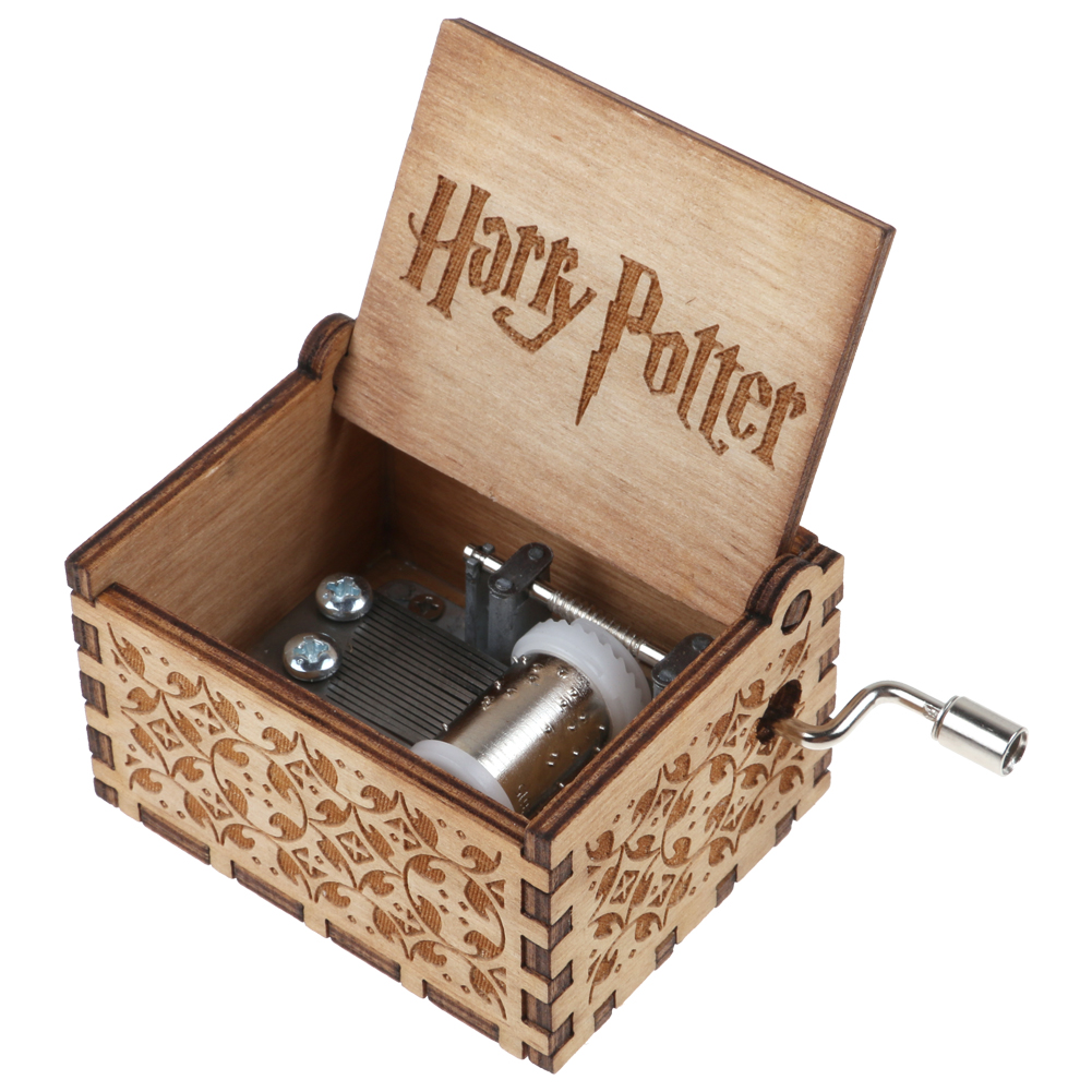 Wedding Music Box Gift: Harry Potter Music Box Engraved Wooden Music Box