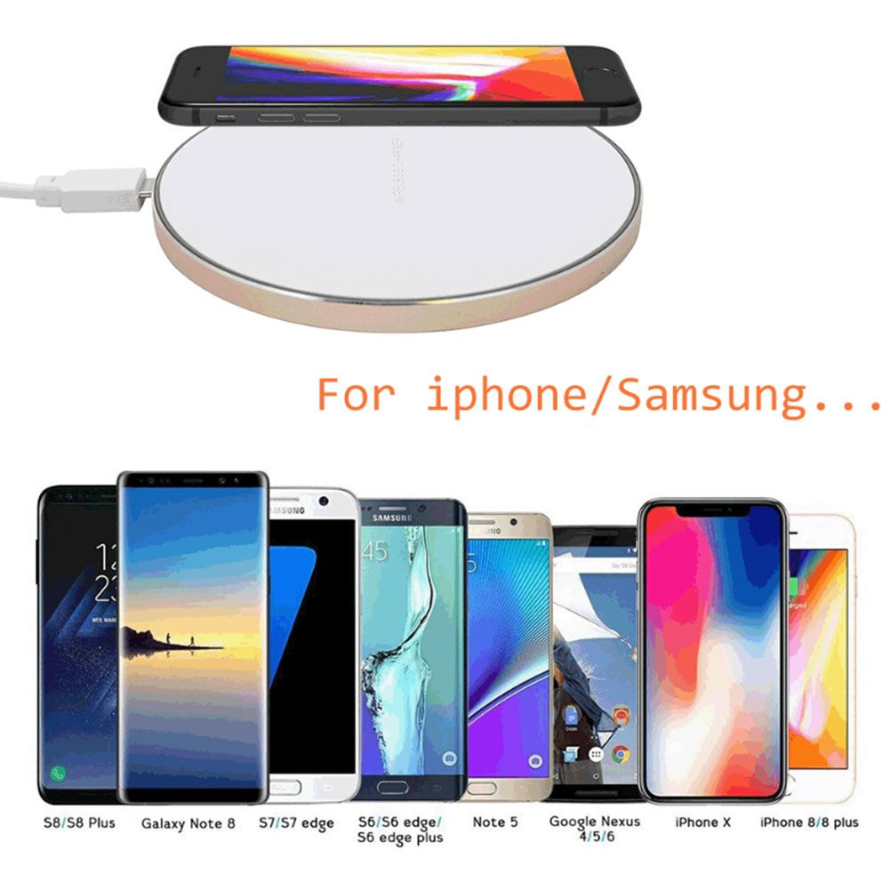 qi wireless charger charging induktion ladeger t f r apple iphone 6 6s 7 8 x ebay. Black Bedroom Furniture Sets. Home Design Ideas