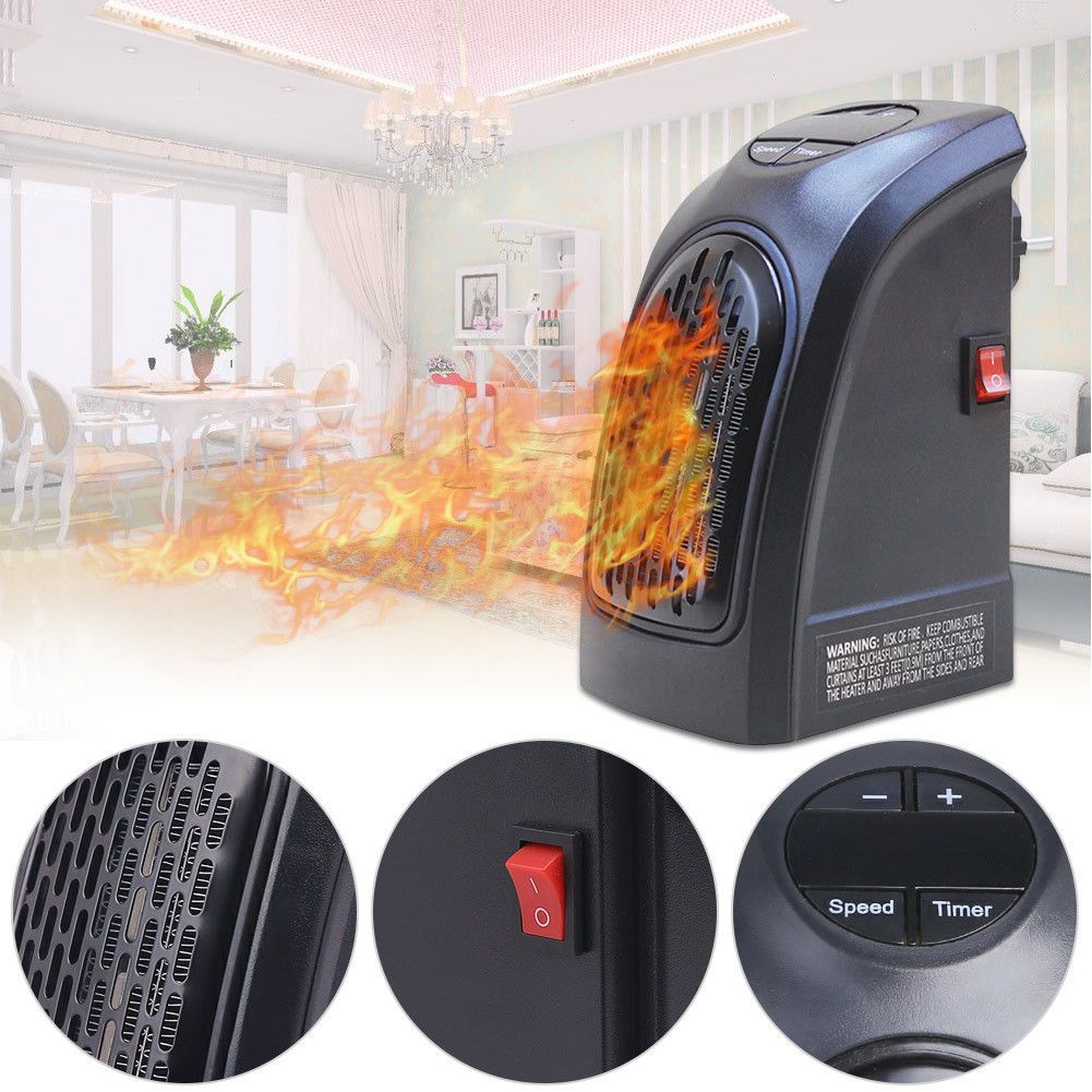 350w electric wall outlet space heater mini home office handy warmer portable ebay. Black Bedroom Furniture Sets. Home Design Ideas