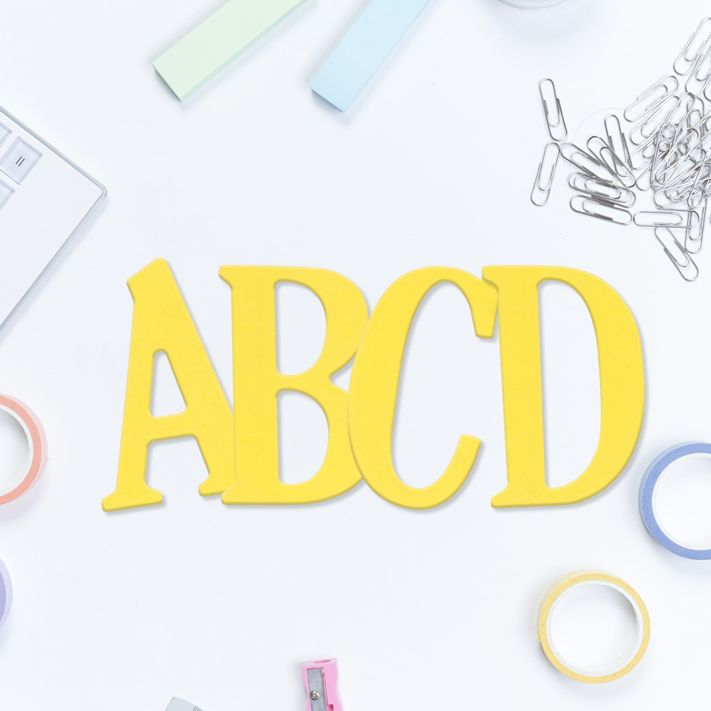 5cm large big alphabet letters a z cutting dies stencils for Large letter die cuts