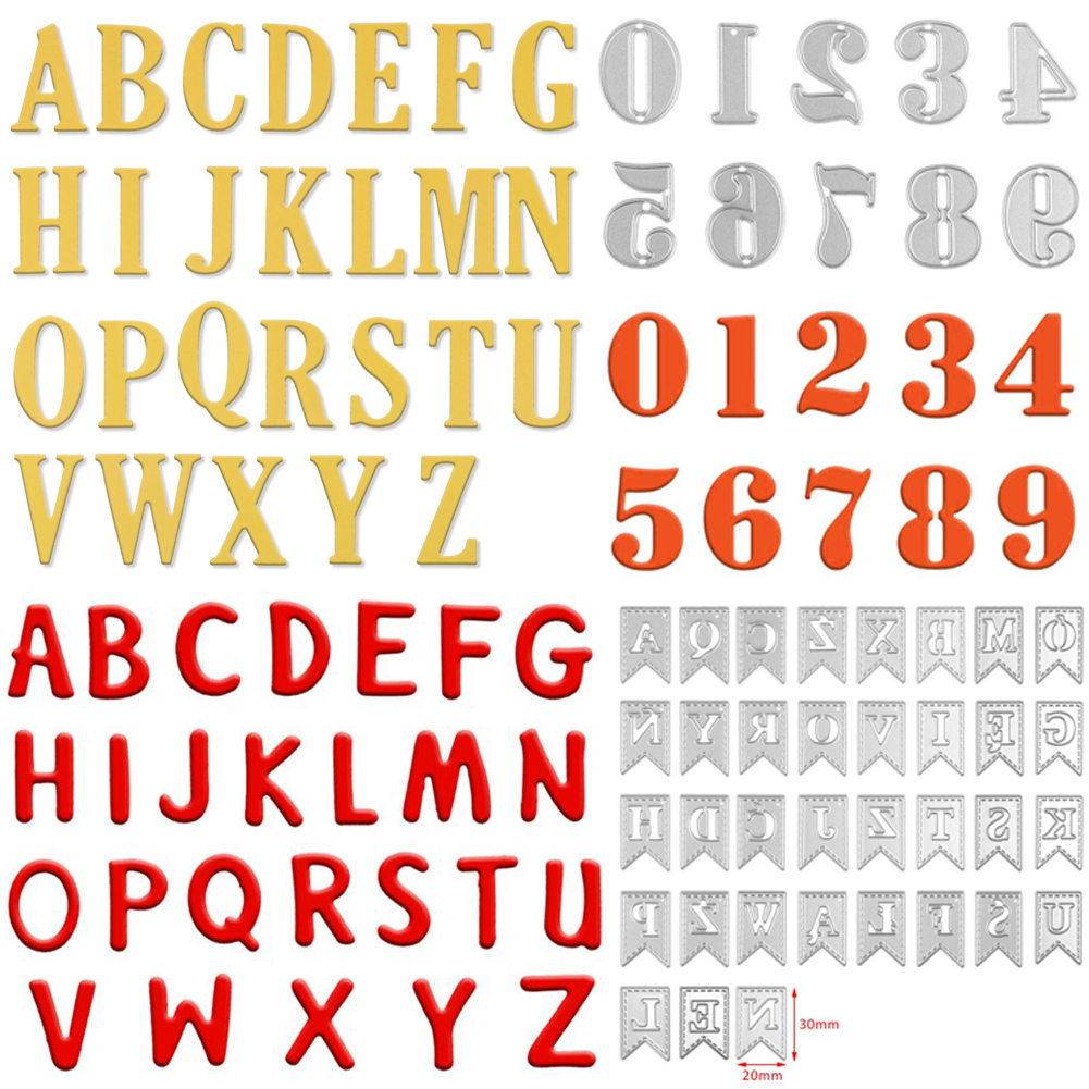 graphic relating to Large Printable Numbers 0-9 identified as Information regarding Weighty Alphabet Letters A-Z Figures 0-9 Slicing Dies Stencils Do-it-yourself Sbooking