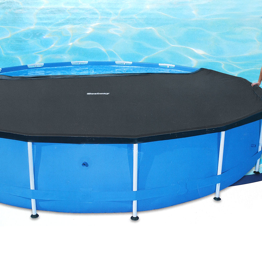 Round swimming pool cover roller fit 10 feet 305cm diameter family garden pool ebay for A swimming pool is circular with a 40 ft diameter