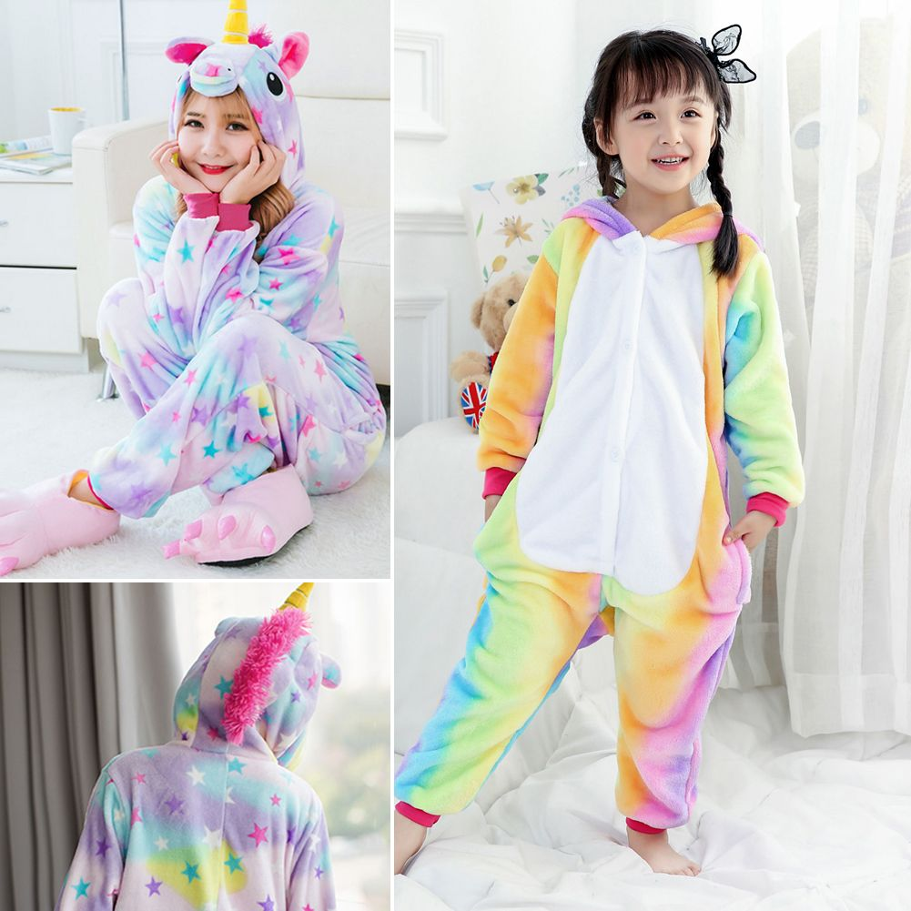tier einhorn overalls erwachsene kost m kigurumi pyjama schlafanzug jumpsuit ebay. Black Bedroom Furniture Sets. Home Design Ideas