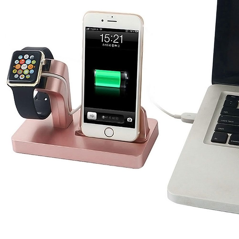 2 in1 ladestation halterung halter st nder f r apple watch iwatch iphone 8 7 6 x ebay. Black Bedroom Furniture Sets. Home Design Ideas