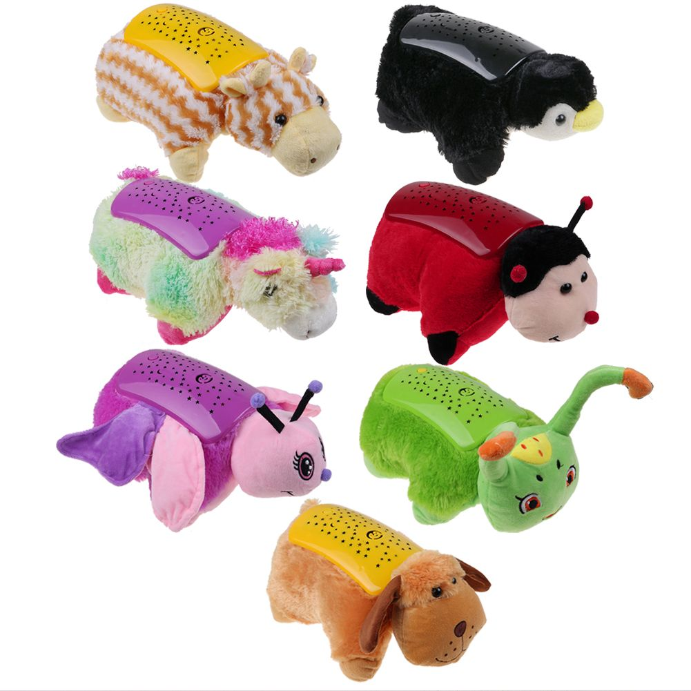 ANIMAL CUDDLE PET PILLOW CUSHION DREAM NIGHT LIGHT BED LITES KIDS CHILDRENS CUTE eBay