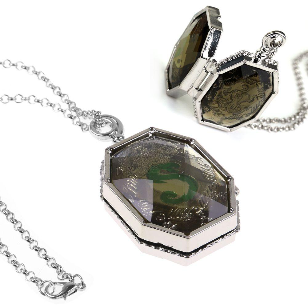 Harry Potter Prop Slytherin Horcrux Locket Pendant Necklace Lord Voldermort UK