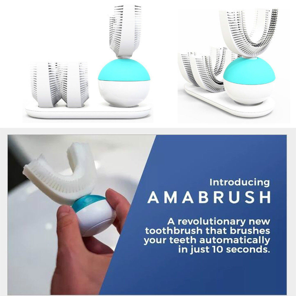 Automatic Amabrush Sonic All Tooth Toothbrush Hands Free Wireless Charging