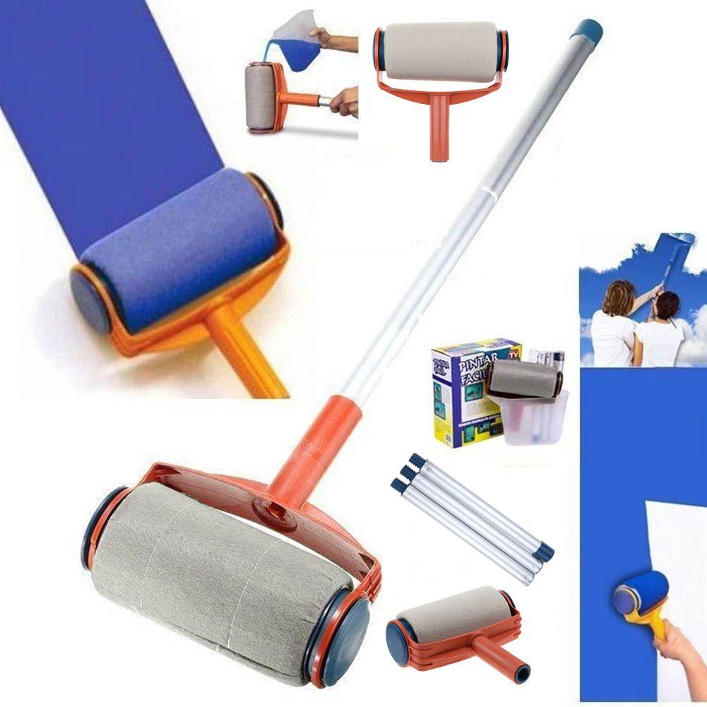 Pro Paint Roller Kit Brush Painting Runner Pintar Tool