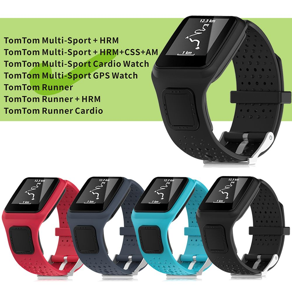 replacement wrist band strap for tomtom runner multi sport gps runner cardio hrm ebay. Black Bedroom Furniture Sets. Home Design Ideas