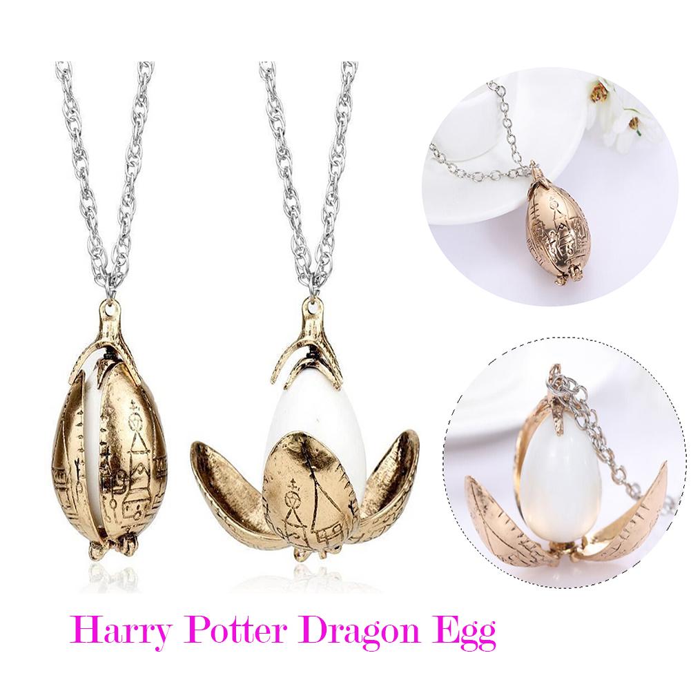 New harry potter goblet of fire golden egg pendant necklace harry potter dragon egg pendant necklace the goblet of fire new mozeypictures Images