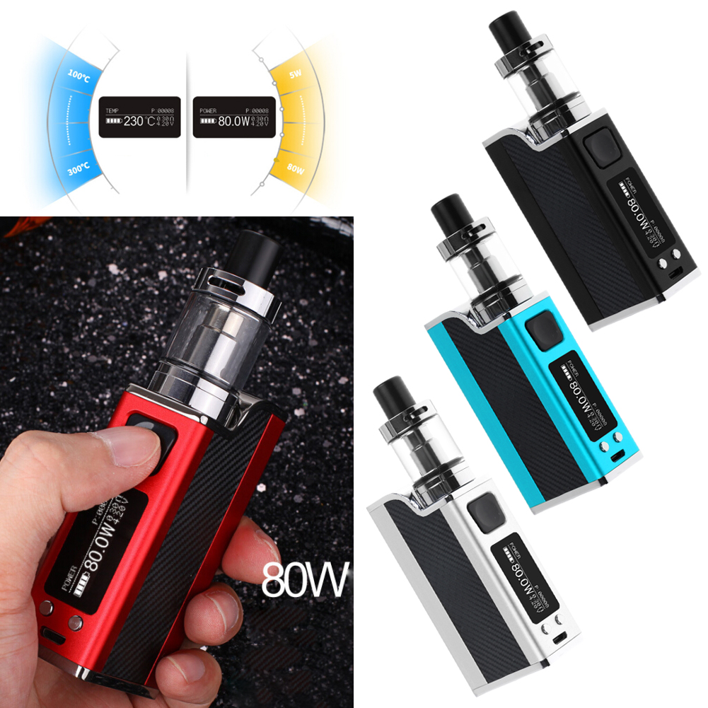 80w 0 3 tank vape e pen starter zigarette kit led display mit 1500mah batterie ebay. Black Bedroom Furniture Sets. Home Design Ideas