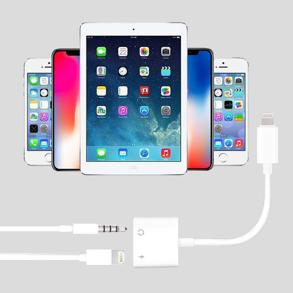 adapter for apple iphone x 7 splitter aux audio. Black Bedroom Furniture Sets. Home Design Ideas