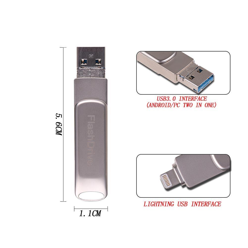 8pin usb sticks 32gb speicher sticks f r iphone x 8 7 6. Black Bedroom Furniture Sets. Home Design Ideas