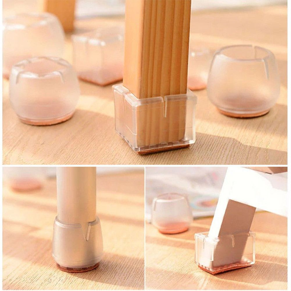 Silicone Rubber Chair Leg Caps Feet Pads Furniture Table