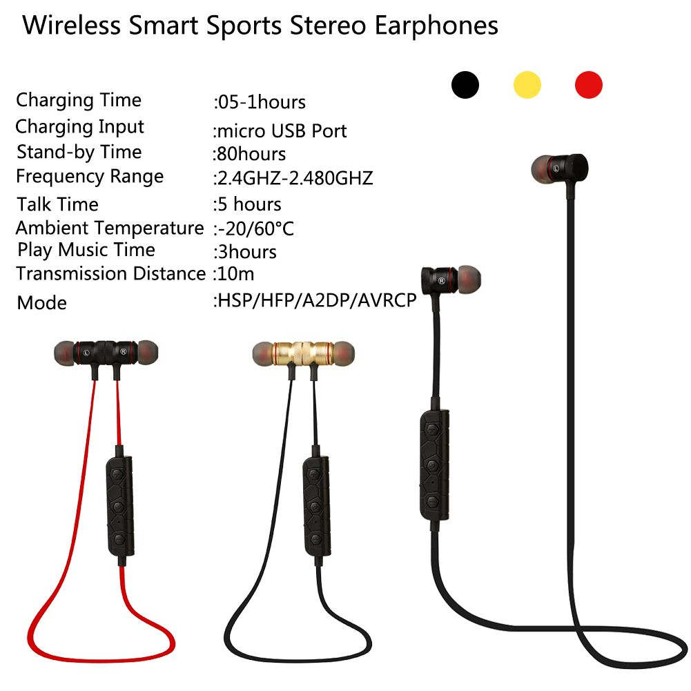 in ear kopfhrer bluetooth kopfh rer kabellos stereo sport. Black Bedroom Furniture Sets. Home Design Ideas