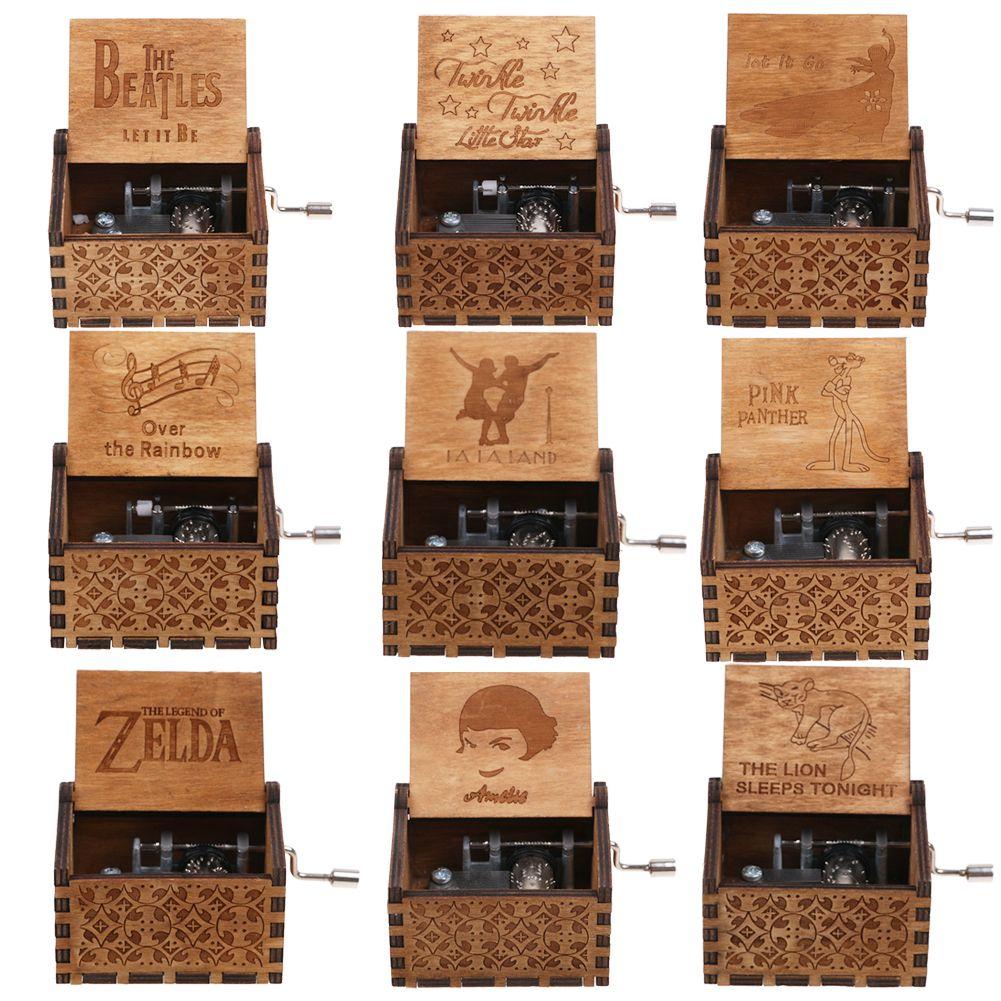 Harry Potter-Spieluhr graviert Musik Holzkiste interessante Spielzeuge Weih #OS