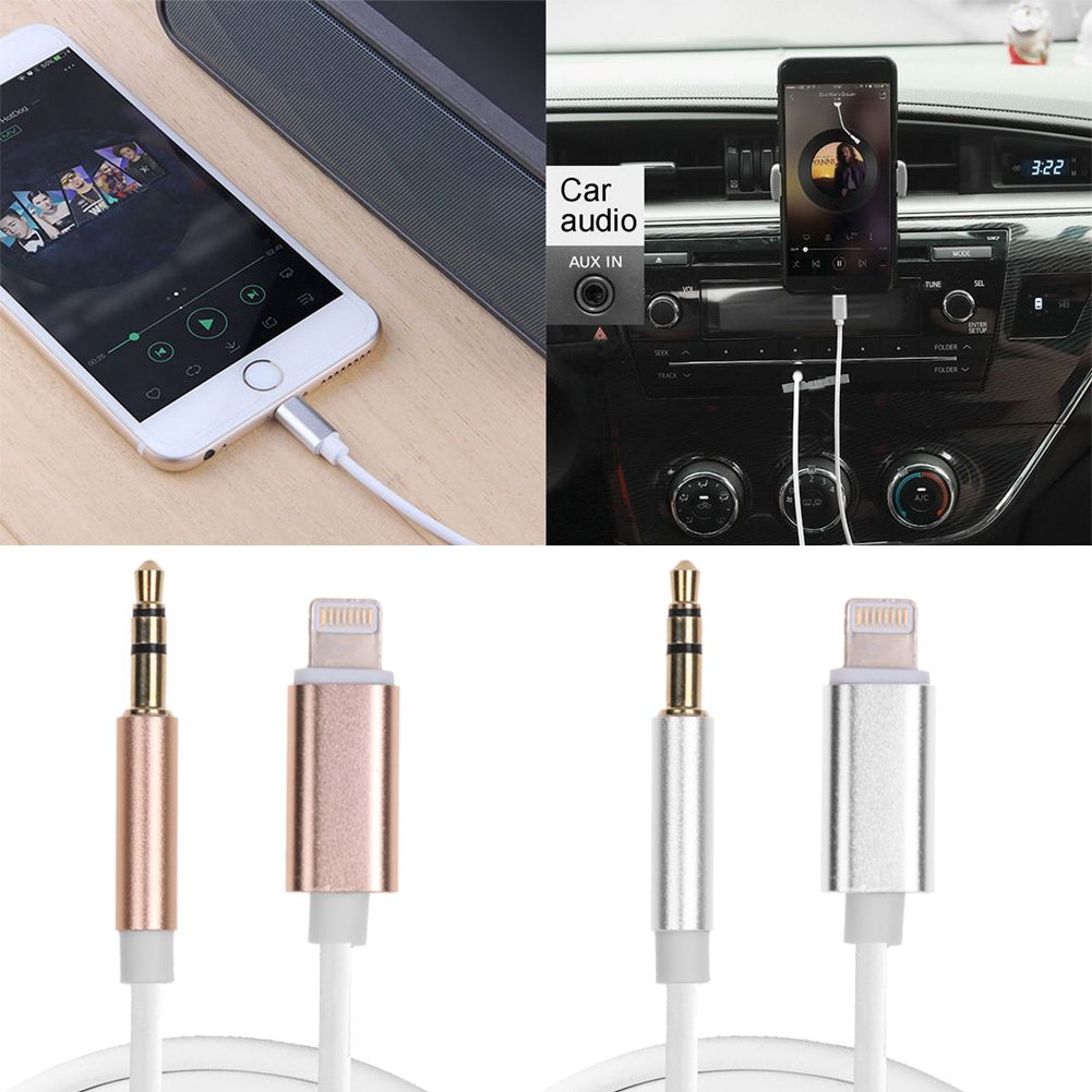 8 pin to male jack aux audio cord headphone cable. Black Bedroom Furniture Sets. Home Design Ideas