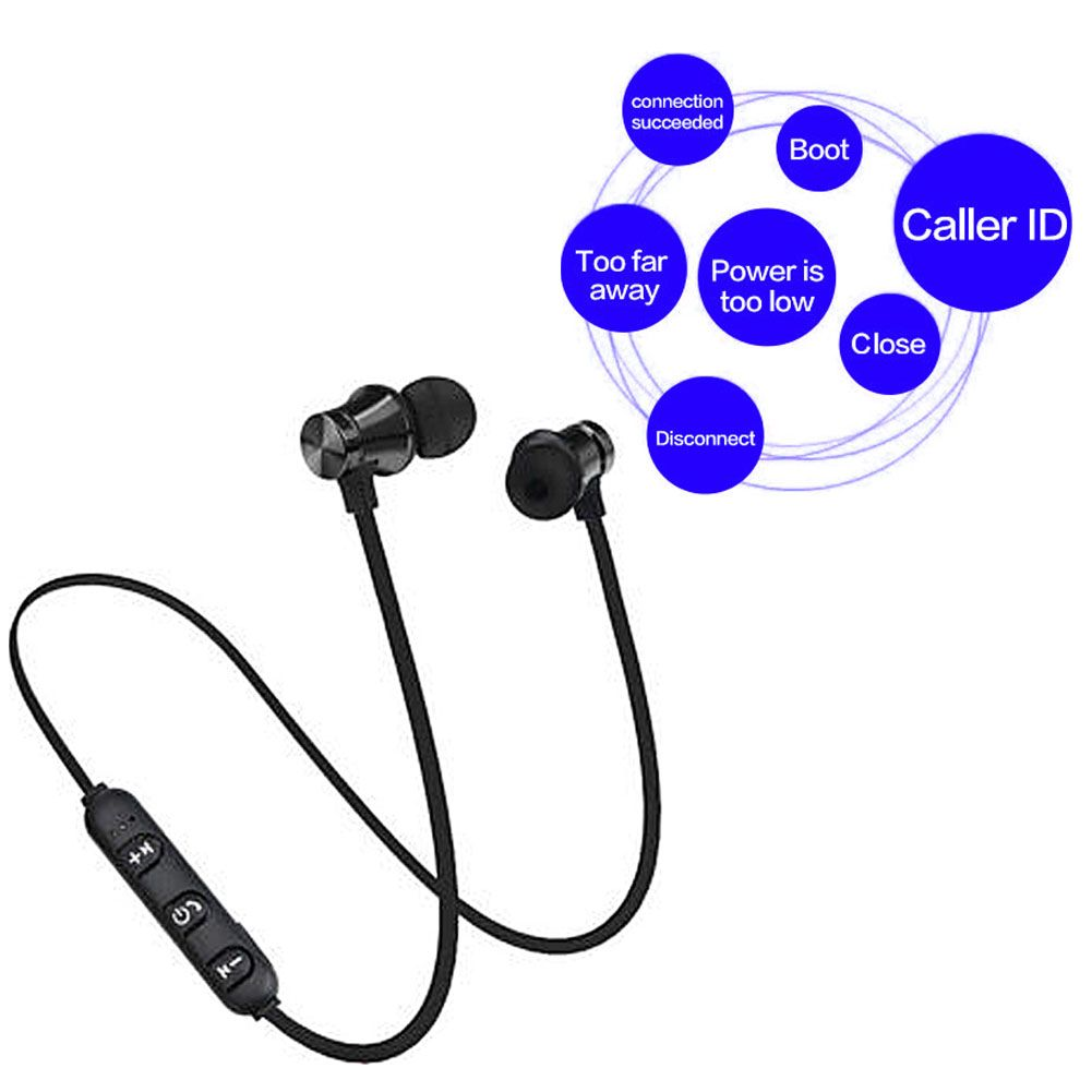 sport magnetischer wireless in ear kopfh rer bluetooth. Black Bedroom Furniture Sets. Home Design Ideas