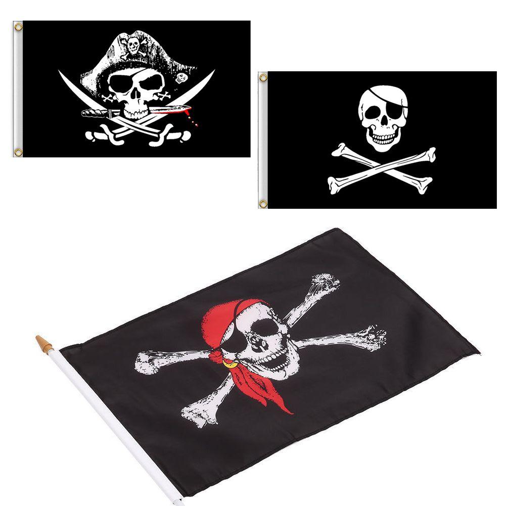 Flag Banner 90cm x 60cm Pirate Bandana Skull /& Crossbones Flag 3ft x 2ft