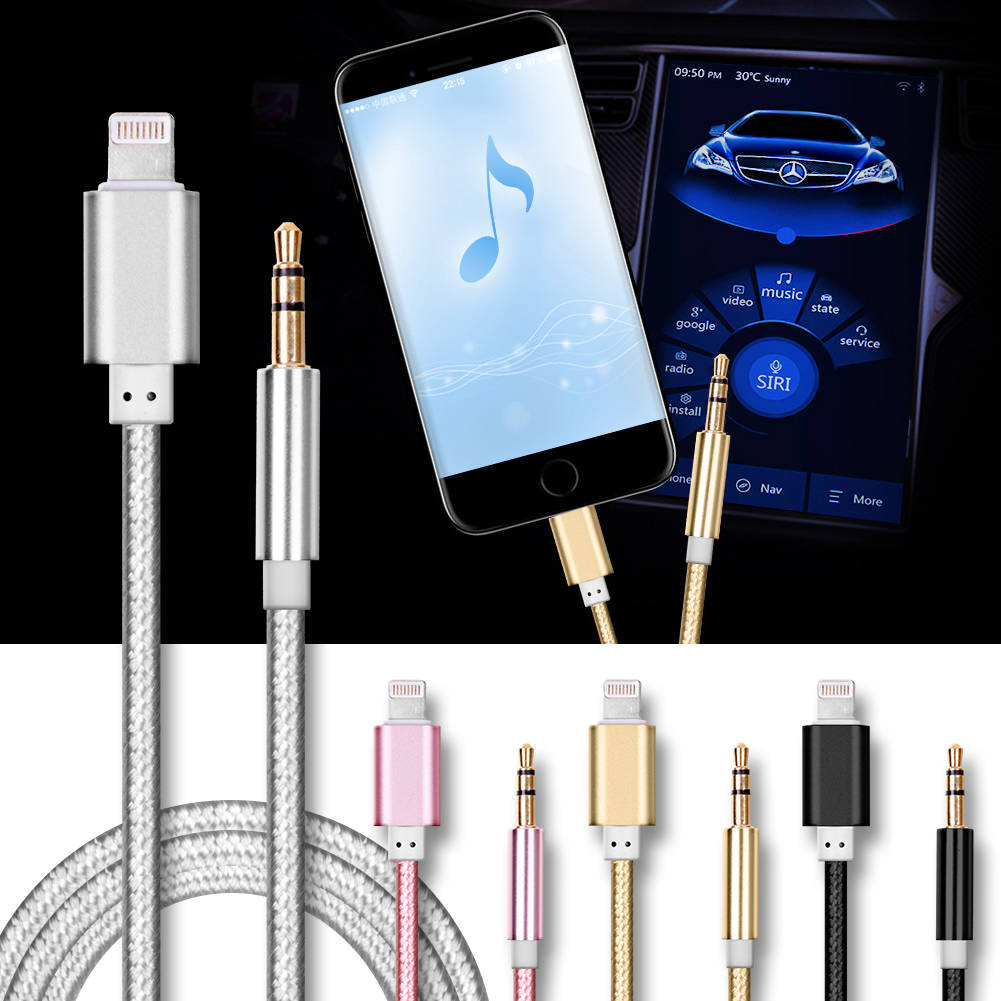 for apple jack aux audio music adapter cable car. Black Bedroom Furniture Sets. Home Design Ideas