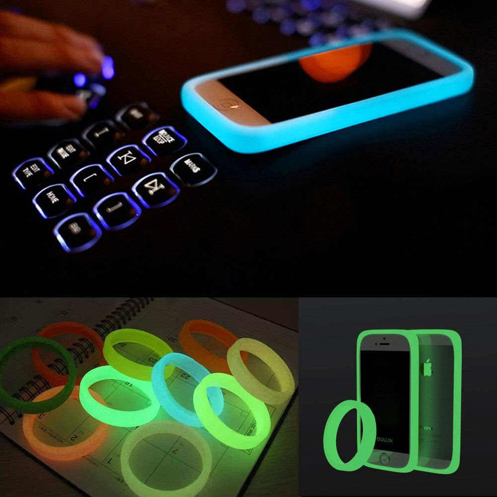 universal phone bumper case glow in dark luminous protective silicone bracelet ebay. Black Bedroom Furniture Sets. Home Design Ideas