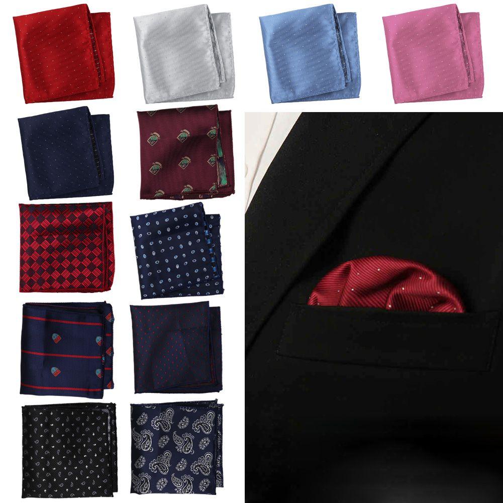 mode mouchoir de poche costume accessoire satin soie homme mariage fete cadeau ebay. Black Bedroom Furniture Sets. Home Design Ideas