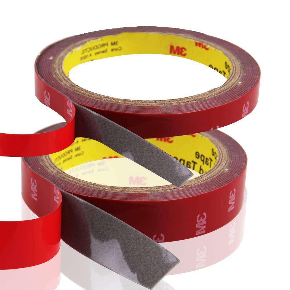 Details about For Auto Truck Car Acrylic Foam Double Sided Adhesive 3M Red  Tape 10mm 20mm