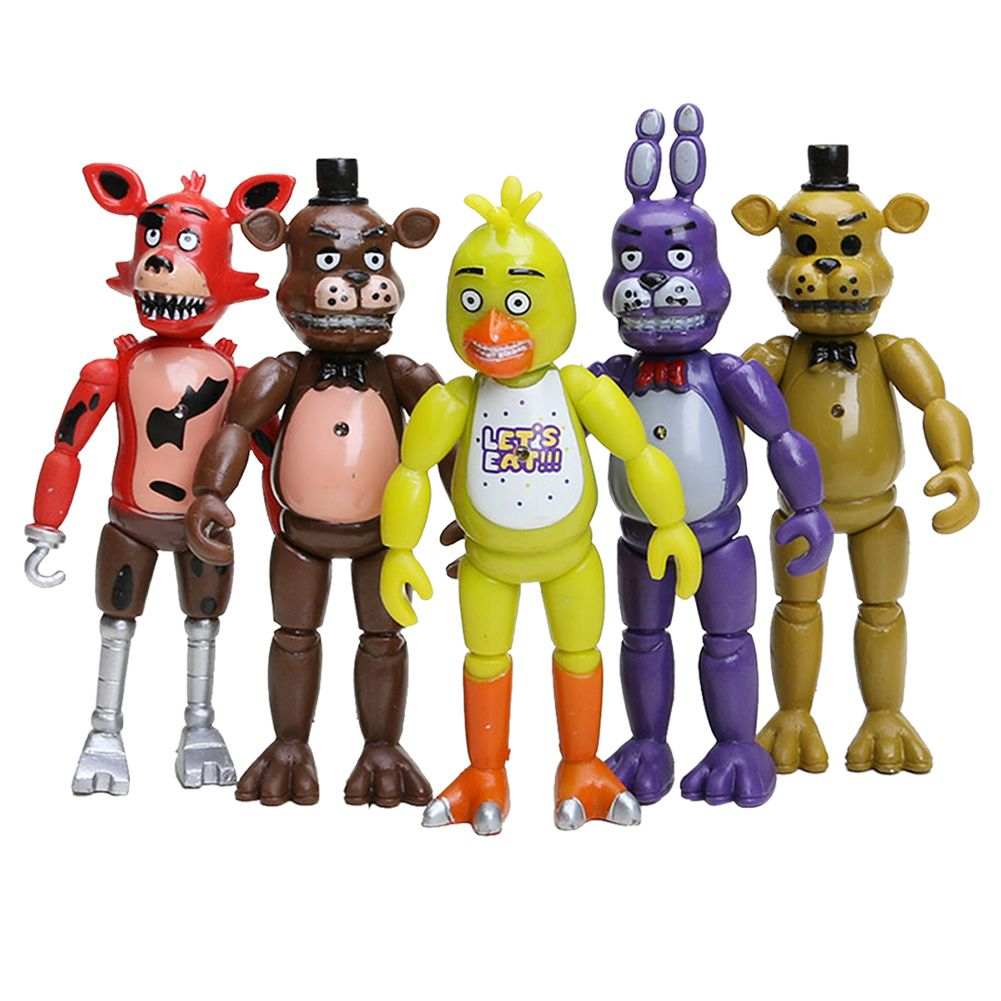 5PCS Five Nights At Freddy's FNAF Action Figures With