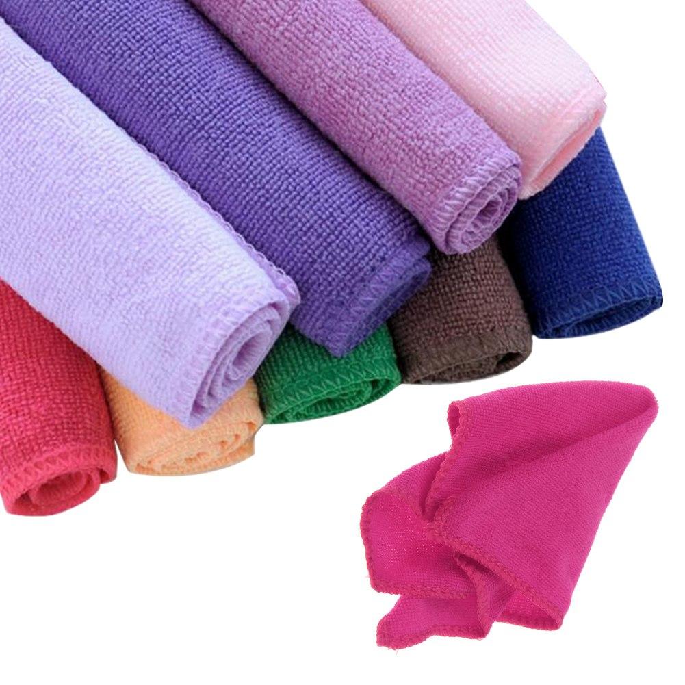 10pcs serviette microfibre chiffon nettoyage voiture lavage towel 23x23 ebay. Black Bedroom Furniture Sets. Home Design Ideas