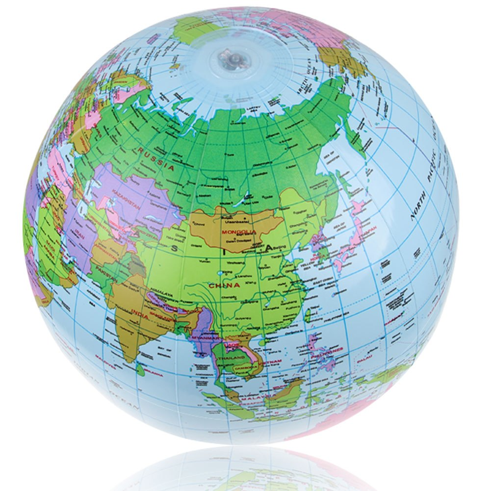 14 globe inflate inflatable earth world teacher beach ball toy free shipping